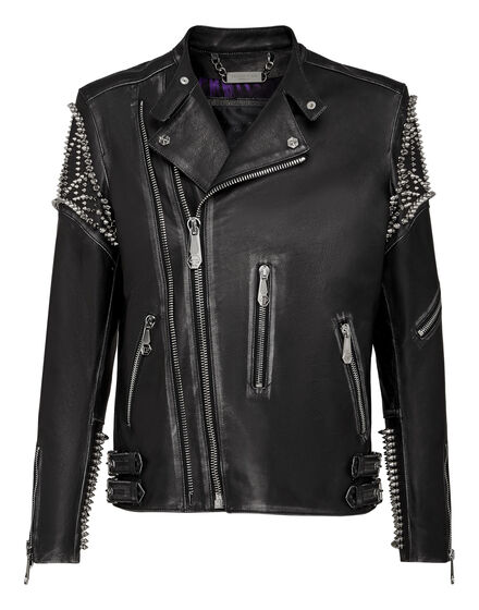 Leather Biker Plein Star