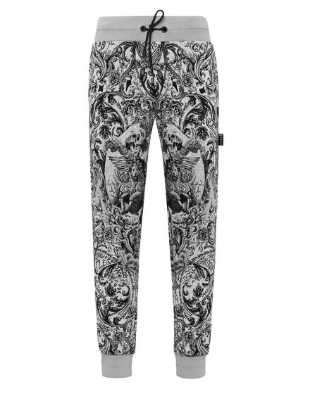 Knit Jogging Trousers Jacquard New Baroque