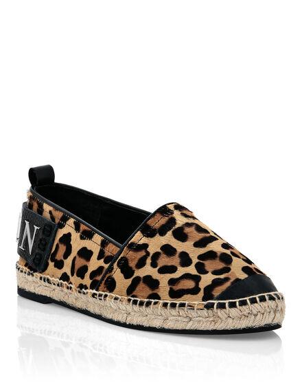 Pony Leather Espadrillas Leopard