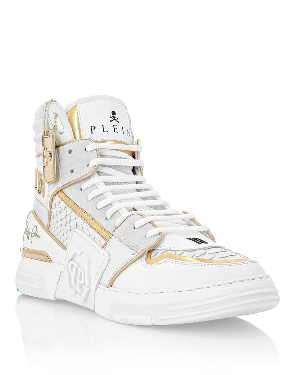 Python PHANTOM KICK$  Hi-Top Sneakers Gold