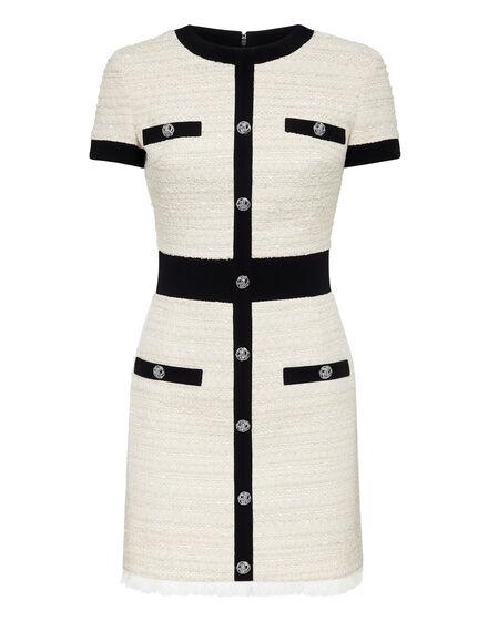 Bouclé Short Dress