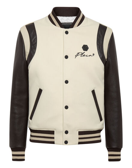 Leather Bomber Embroidery Signature