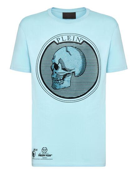 T-shirt Round Neck SS Outline Skull crystal