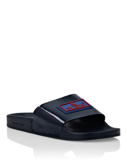 Flat gummy sandals Iconic Plein
