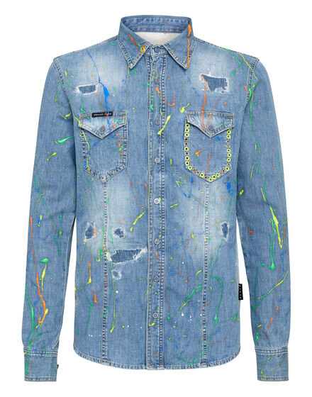 Denim Shirt Ls Painted