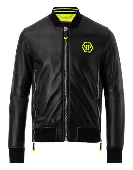 Leather Bomber Serge
