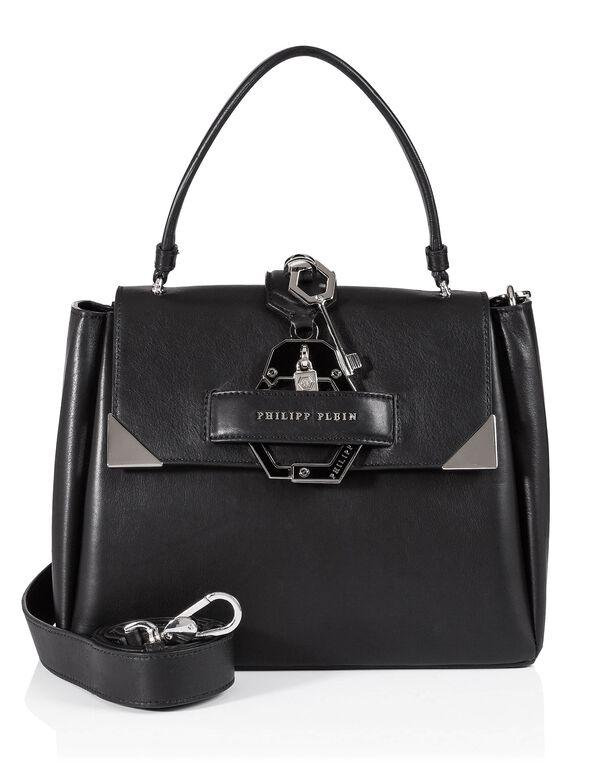 "Handle Bag ""Afrodite Medium"", Black"