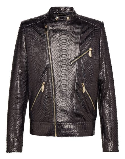 Leather Moto Jacket Pyton car