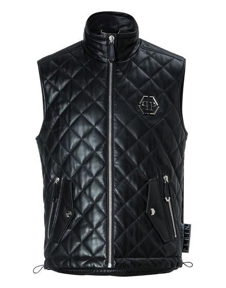 Leather Vest Short Funky