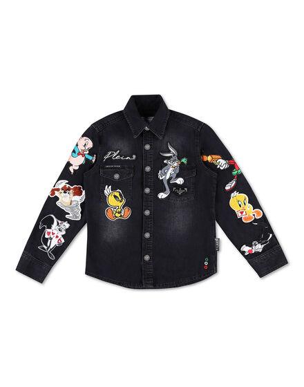 Denim Shirt Ls Looney Tunes