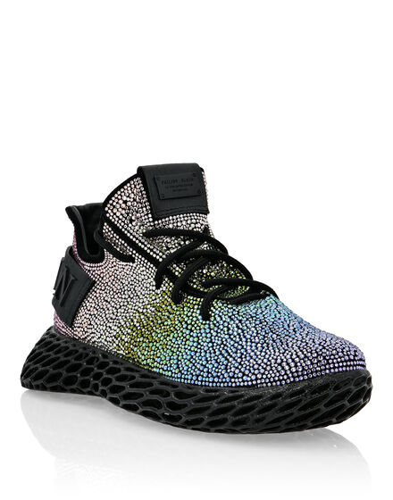 Suede Runner with strass Skeleton