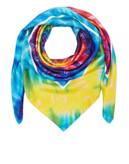 Silk Foulard 90x90 Tie dye