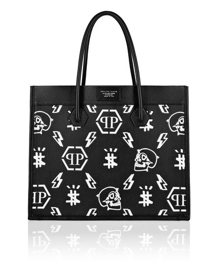 Leather Tote Bag Monogram