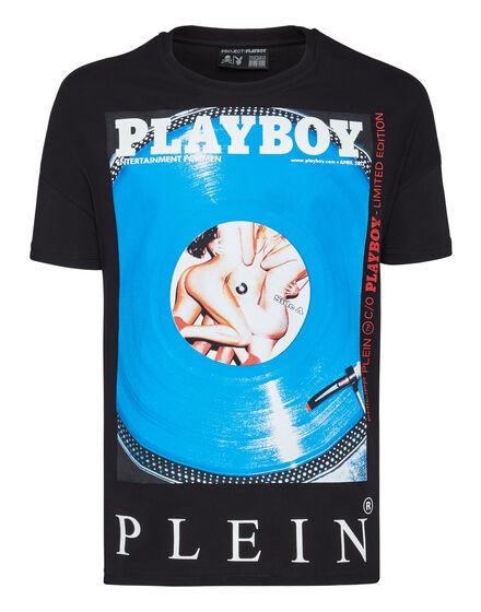 T-shirt Gold Cut Round Neck Playboy