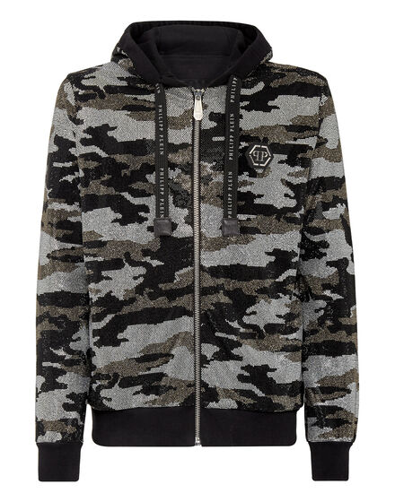 Hoodie Sweatjacket Camouflage