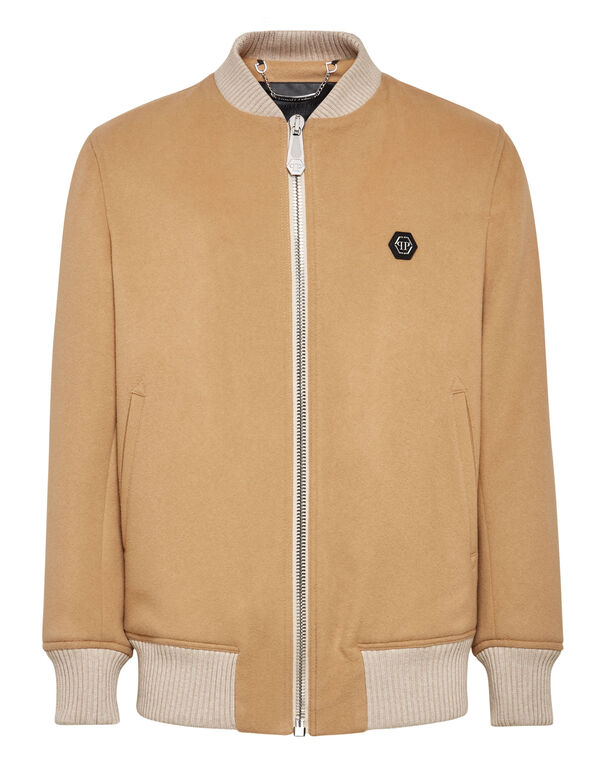 Cashmere 10 Bomber embroidery Iconic Plein