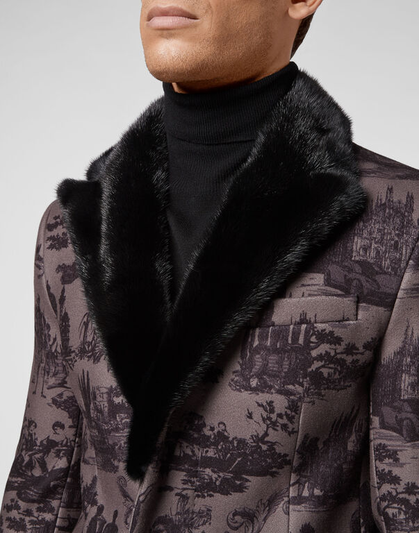 Wool sartorial jacquard coat En PLEIN air