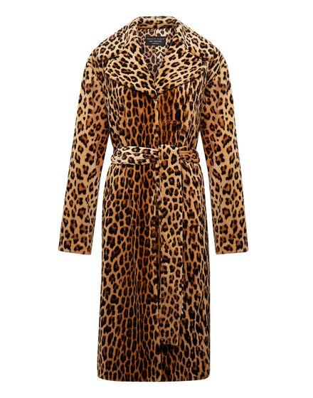 Leopard Intarsia Mink Coat