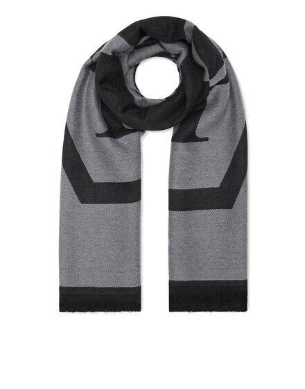 Wool Long Scarf Hexagon