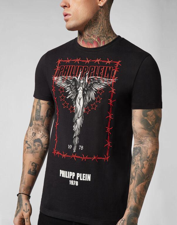 T-shirt Platinum Cut Round Neck Angel