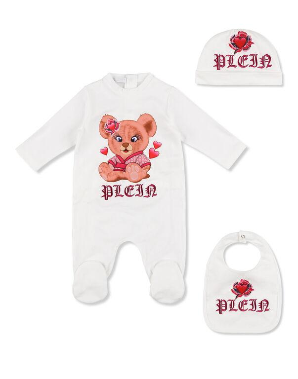 Body/Bonnet/Bib Teddy Bear
