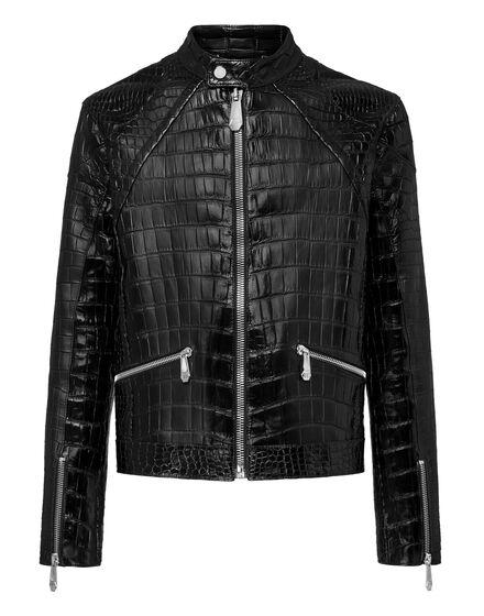 Leather Crocodile Jacket  Luxury