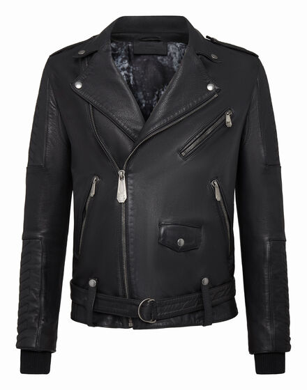 Leather Biker DJ Plein