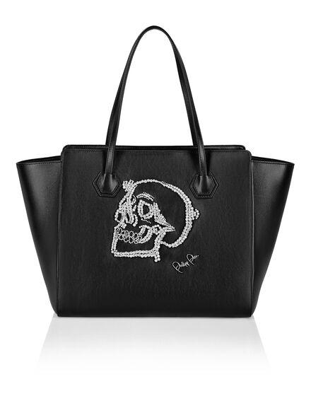 Handle bag Embroidered Skull