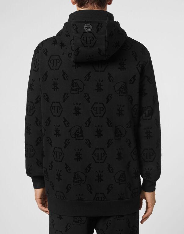 Hoodie sweatshirt Flock Monogram