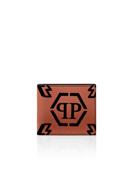 Leather French wallet Monogram