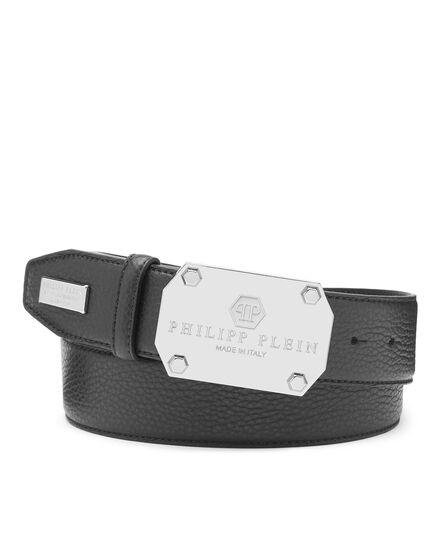 Leather Belt Iconic Plein