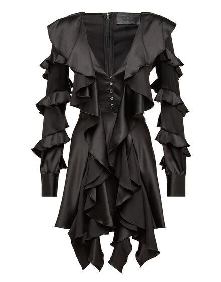 Short Dress Silk Sea