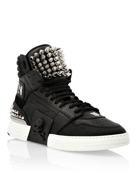 PHANTOM KICK$ Hi-Top Mixed Materials an studs