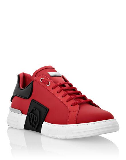 Rubber Leather PHANTOM KICK$ Lo-Top Sneakers Iconic Plein
