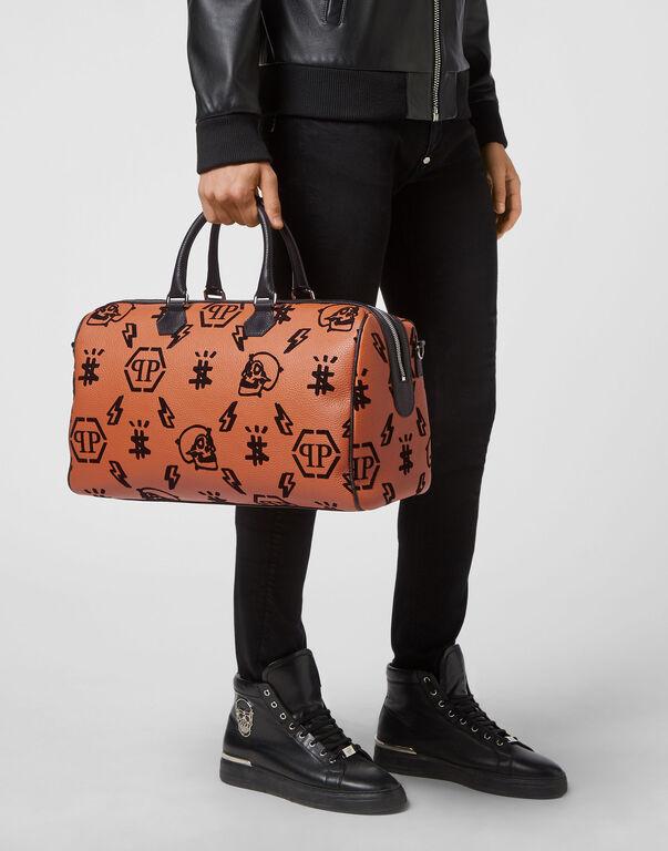 Leather Medium Travel Bag Monogram