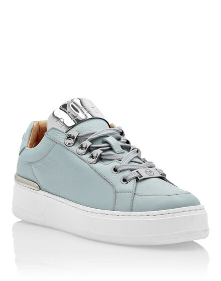 Leather Lo-Top Sneakers Silver $urfer TM
