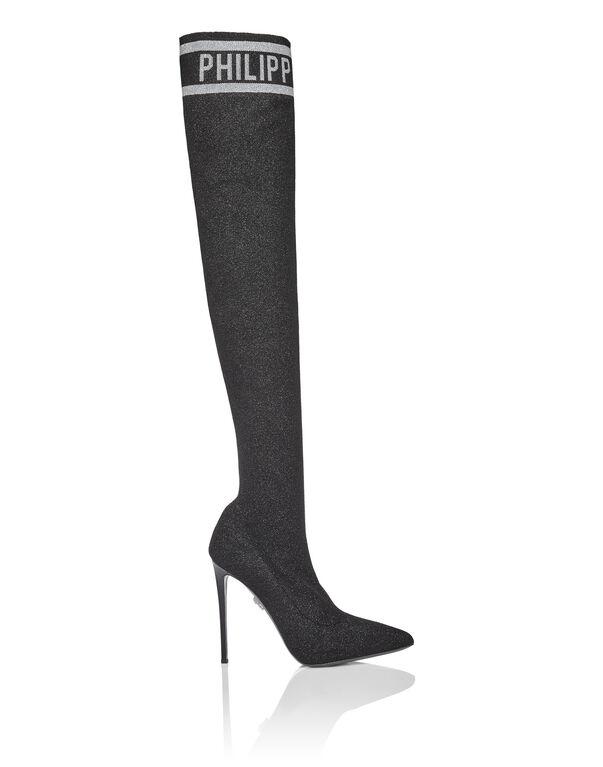 Boots Hi-Heels Overknees Lurex