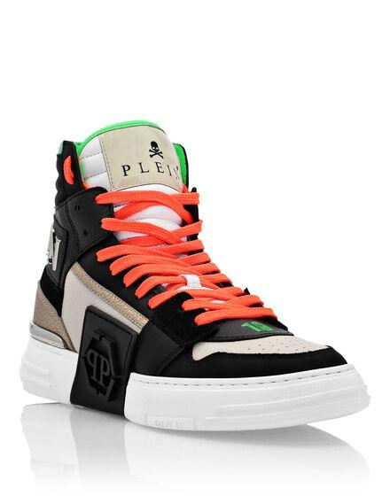 Leather PHANTOM KICK$ Hi-Top Sneakers Mix Leather Hexagon