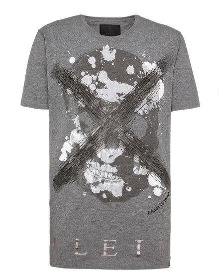 T-shirt Black Cut Round Neck Daylight