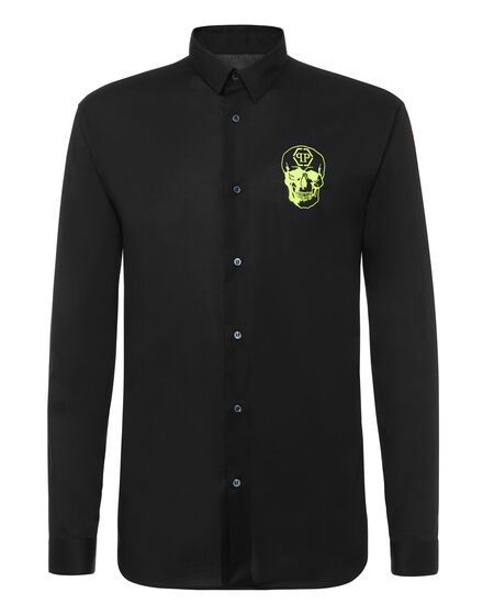 Shirt Crystal cut LS Skull