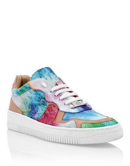 Satin Lo-Top Sneakers Tie dye