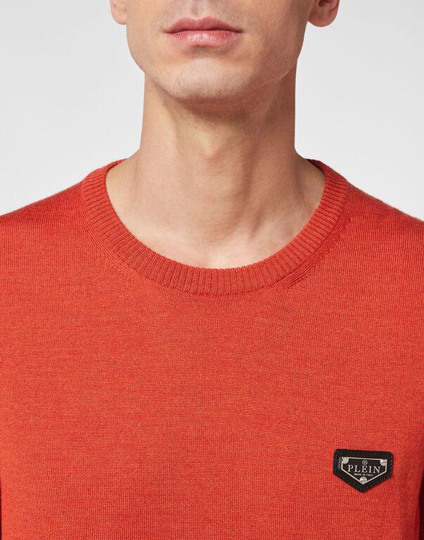 Merino wool Pullover Round Neck LS Iconic Plein