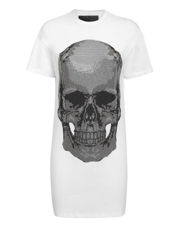 T-Shirt Short Dresses Classic Skull strass