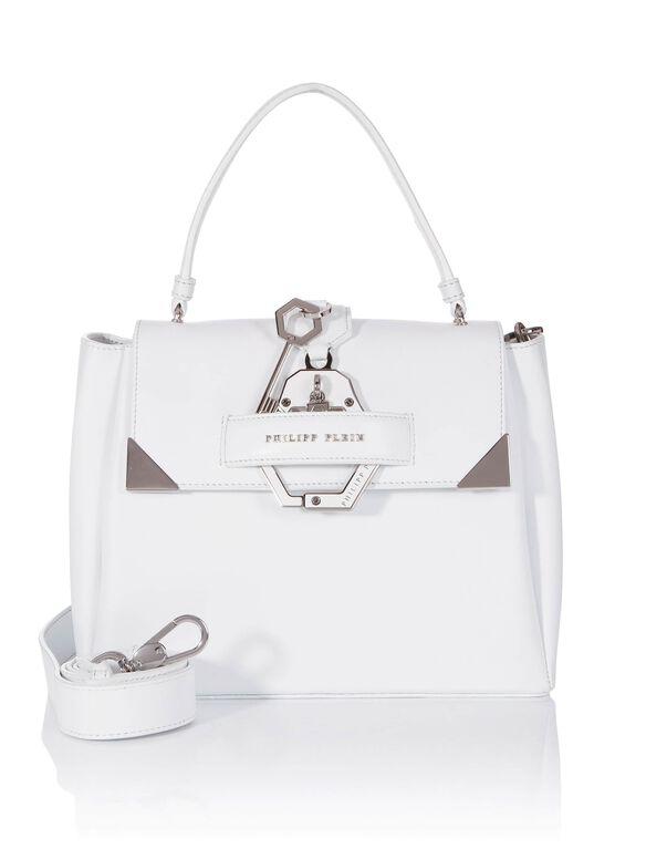 """Handle Bag """"Afrodite Medium"""" in White from PHILIPP PLEIN"""