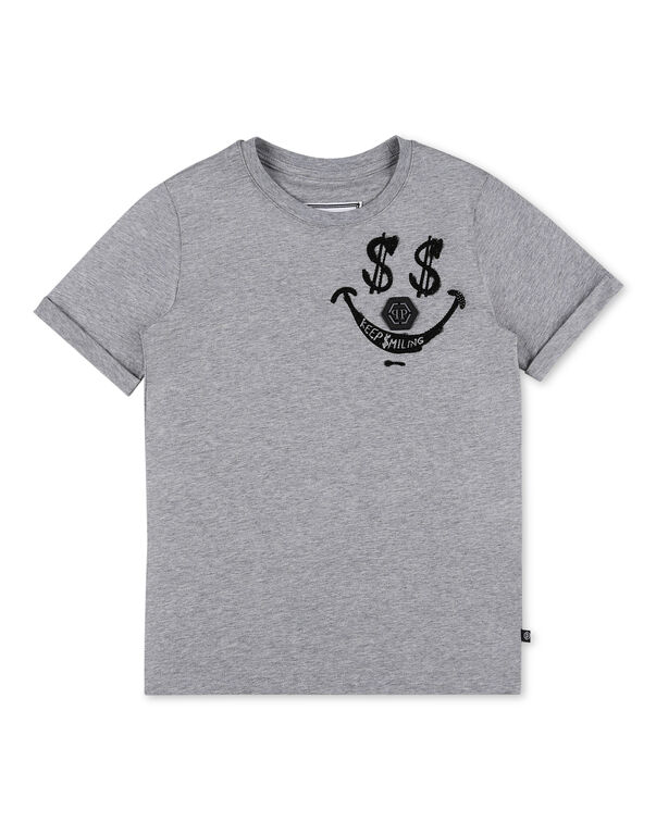 T-shirt Round Neck SS stones Keep $miling