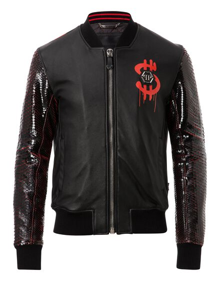 Leather Bomber Money and pyton