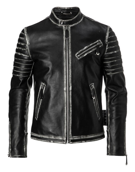 Leather Moto Jacket Old
