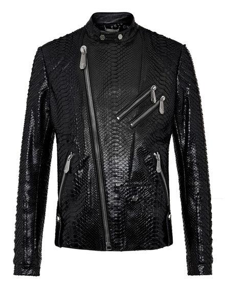 Leather Biker slim fit Luxury