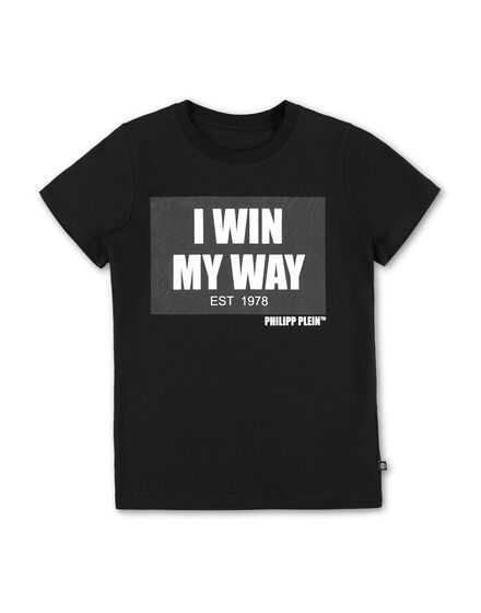 T-shirt Round Neck SS stone I WIN MY WAY