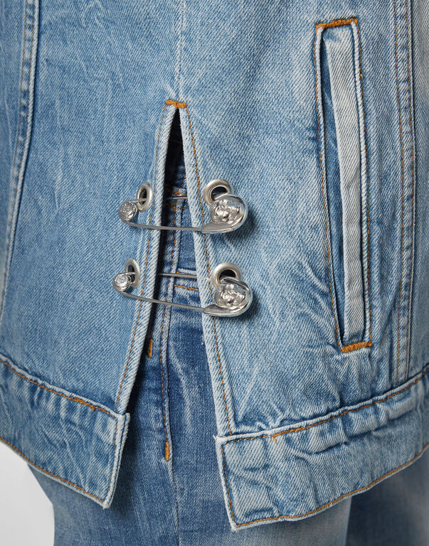 Denim vest Pins